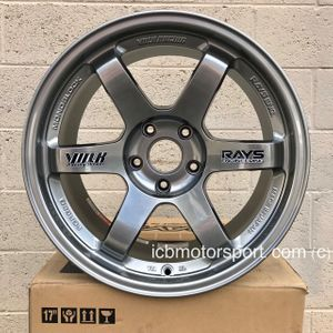 Rays Volk Racing TE37 Wheels 17X9 5X114.3 +22 Offset Concave Face Formula Silver