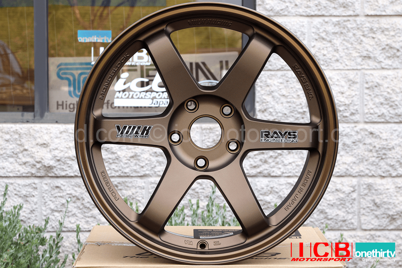 Rays Volk Racing TE37 Wheels 18X10 5X120 +41 Offset Concave Face Bronze Civic FK8 CTR