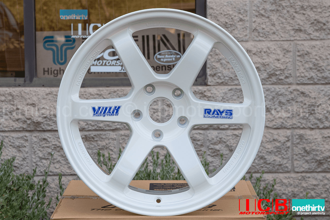 Rays Volk Racing TE37 Wheels 18X10 5X120 +41 Offset Concave Face Time Attack White Civic FK8 CTR Sold Out