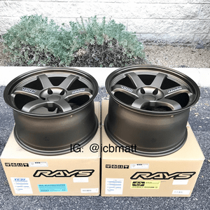Rays Volk Racing TE37 Wheels 18X9.5 18X10.5 5X120 +22 Offset Concave Face Bronze  BMW E46/92 F80/82 M3 M4