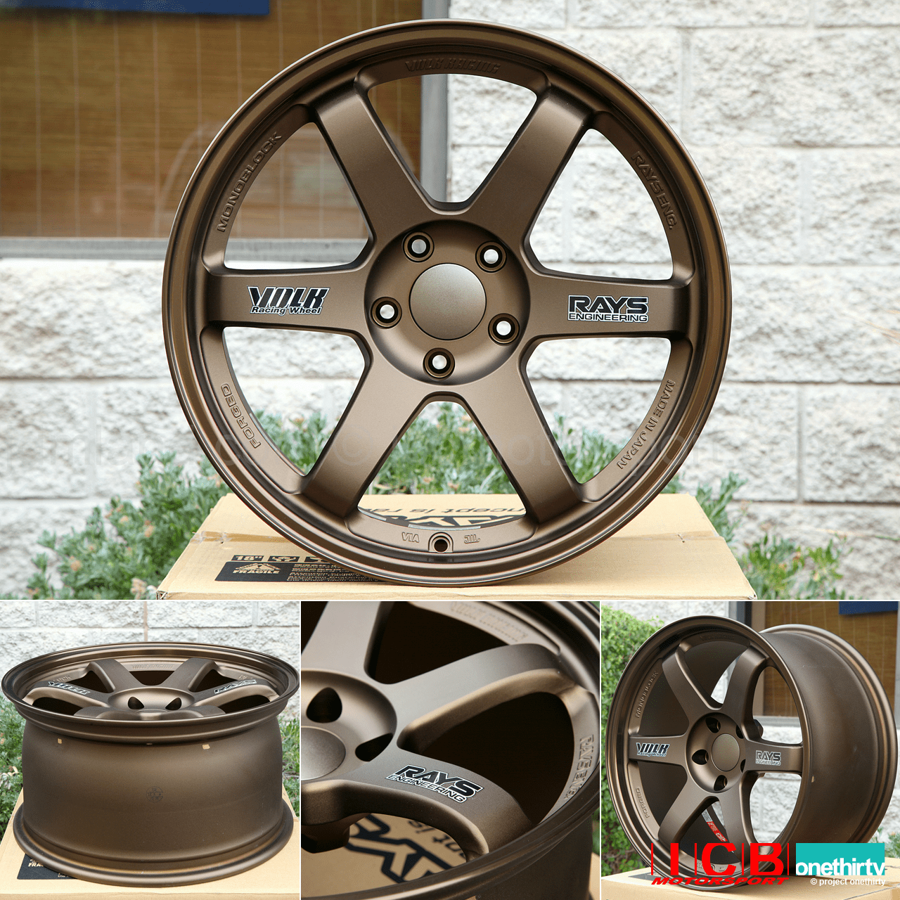 Rays Volk Racing TE37 Wheels 18X9.5 5X114.3 +22 Offset Concave Face Bronze