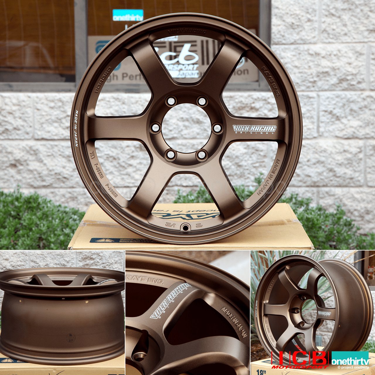 Rays Volk Racing TE37 Wheels 18X9 6X139.7 0 Offset Bronze Large P.C.D. Progressive Model