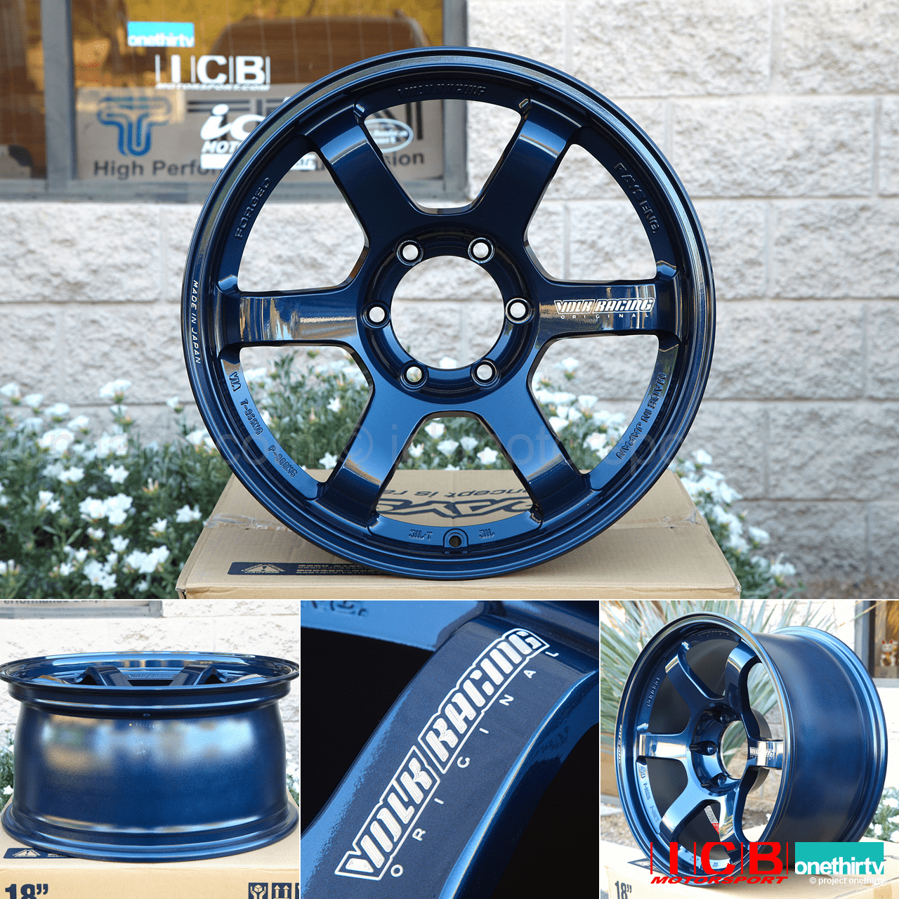 Rays Volk Racing TE37 Wheels 18X9 6X139.7 0 Offset Mag Blue Large P.C.D. Progressive Model