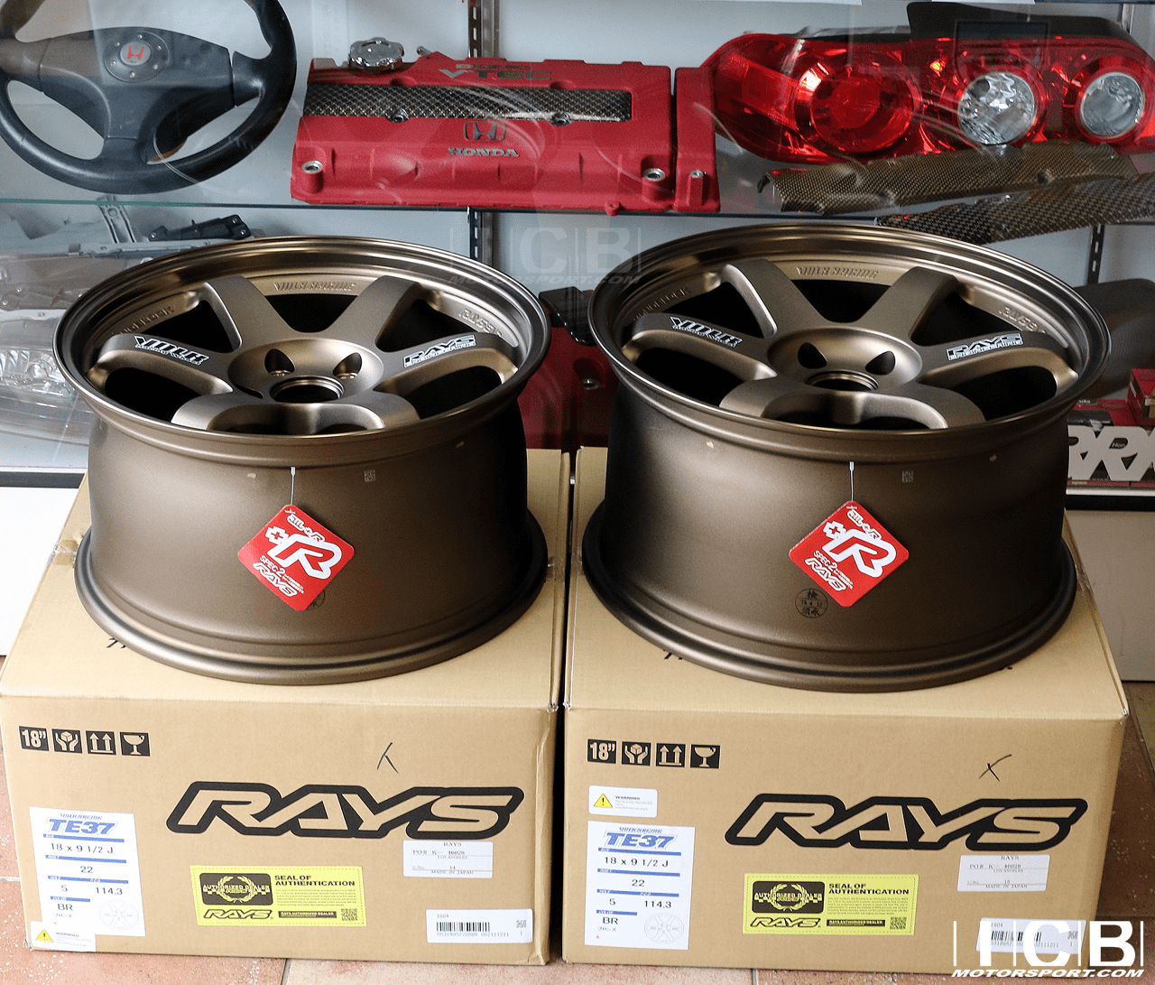 Rays Volk Racing TE37OG Bronze Wheels Set 5X114.3 17X9 +34 Offset 18X9.5 +22 Double Concave