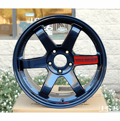 Rays Volk Racing TE37SL Hyper Blue Wheels 18X9.5 +38 Offset 5X120 Concave Face Civic FK8 CTR
