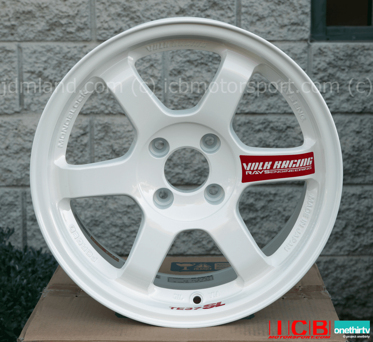 Rays Volk Racing TE37SL Limited Edition Super Lap Wheels 15X8 4X100 +25 Offset Champ White NH0 FREE SHIPPING
