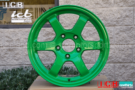 Rays Volk Racing TE37SL Limited Edition Super Lap Wheels 15X8 5X114.3 +32 Offset Takata Green
