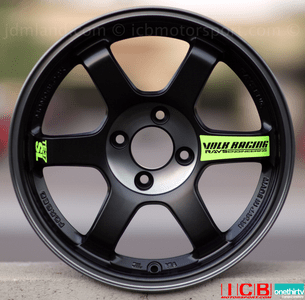Rays Volk Racing TE37SL Limited Edition Super Lap Wheels 15X8 5X114.3 +35 Offset Black Edition FREE SHIP