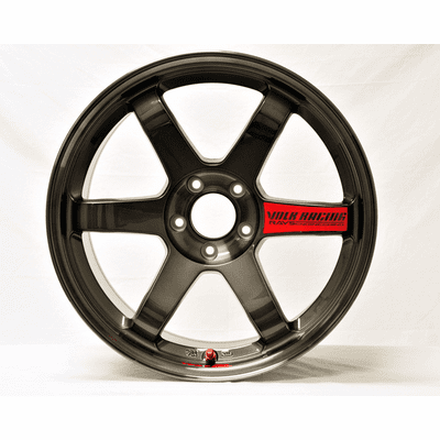 Rays Volk Racing TE37SL Limited Edition Super Lap Wheels 18X9.5 5X114.3 +22 Offset Pressed Graphite