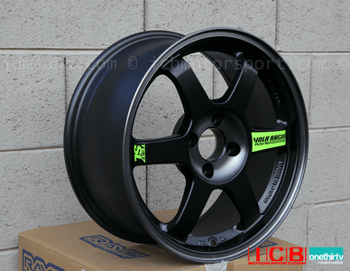 Rays Volk Racing TE37SL Wheels 16X7.5 4X100 +35 Offset Black Edition Sold Out!