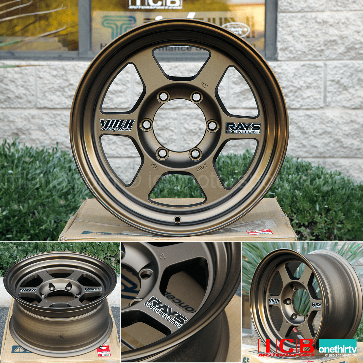 Rays Volk Racing TE37X OG Wheels 16X8 6X139.7 0 Offset Bronze Large P.C.D.
