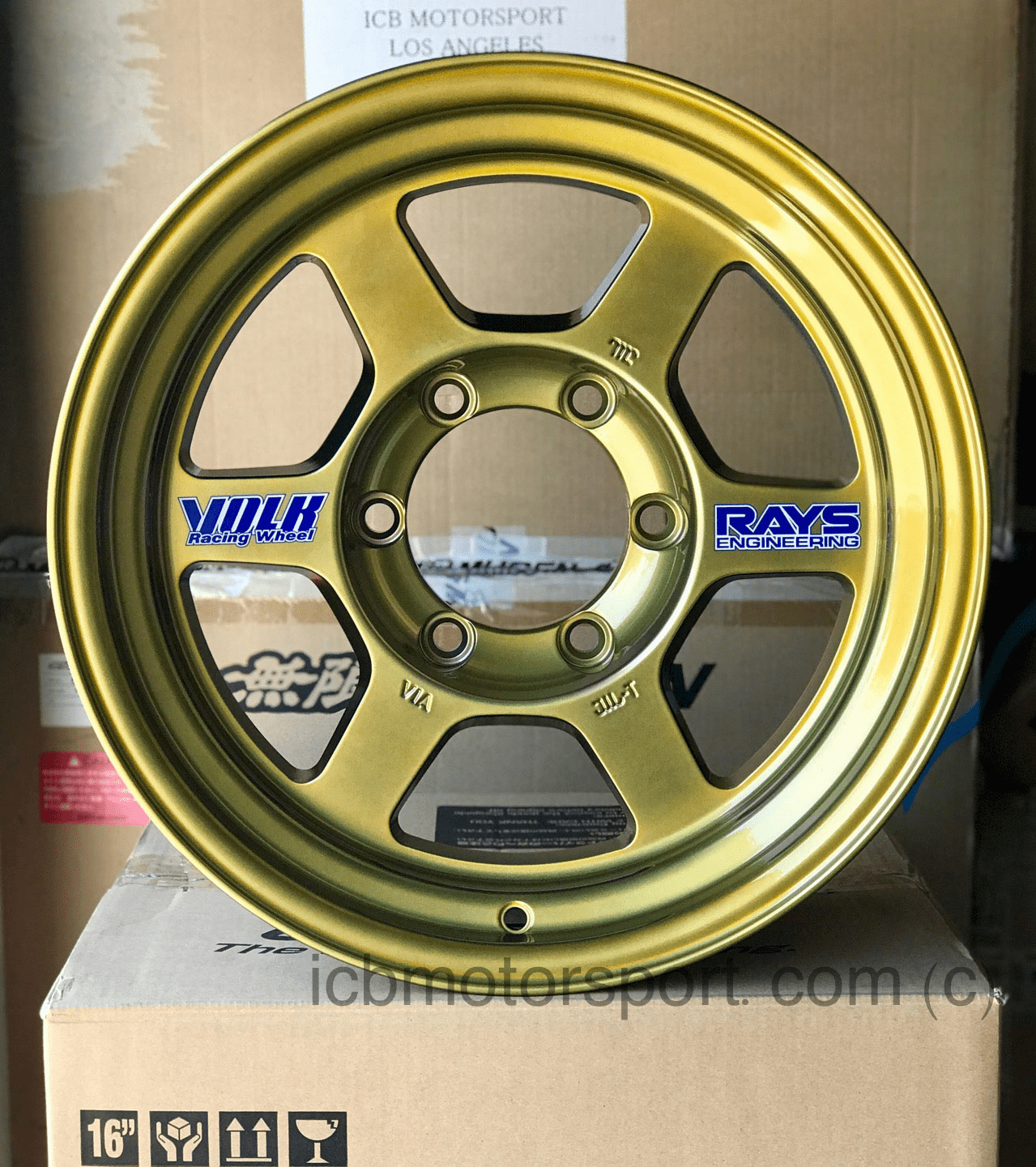 Rays Volk Racing TE37X OG Wheels 16X8 6X139.7 0 Offset Hyper Gold Large P.C.D.