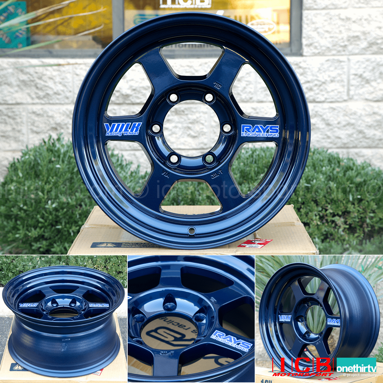 Rays Volk Racing TE37X OG Wheels 16X8 6X139.7 0 Offset Mag Blue Large P.C.D.