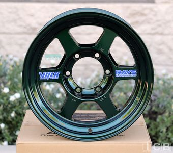 Rays Volk Racing TE37X OG Wheels 16X8 6X139.7 0 Offset Racing Green Large P.C.D.