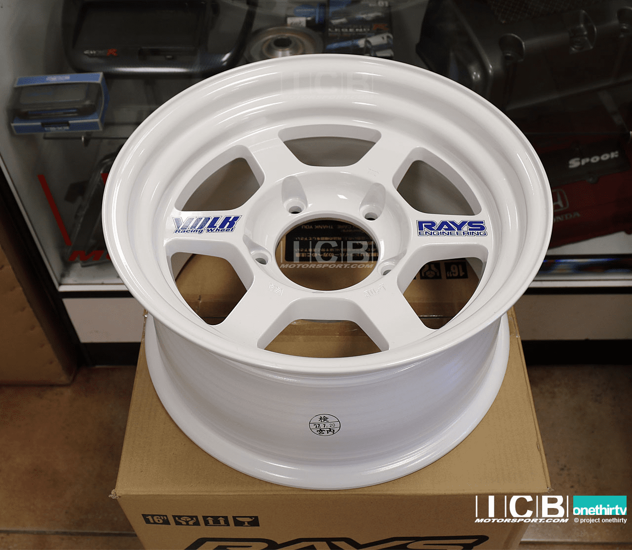Rays Volk Racing TE37X OG Wheels 16X8 6X139.7 0 Offset White Large P.C.D.