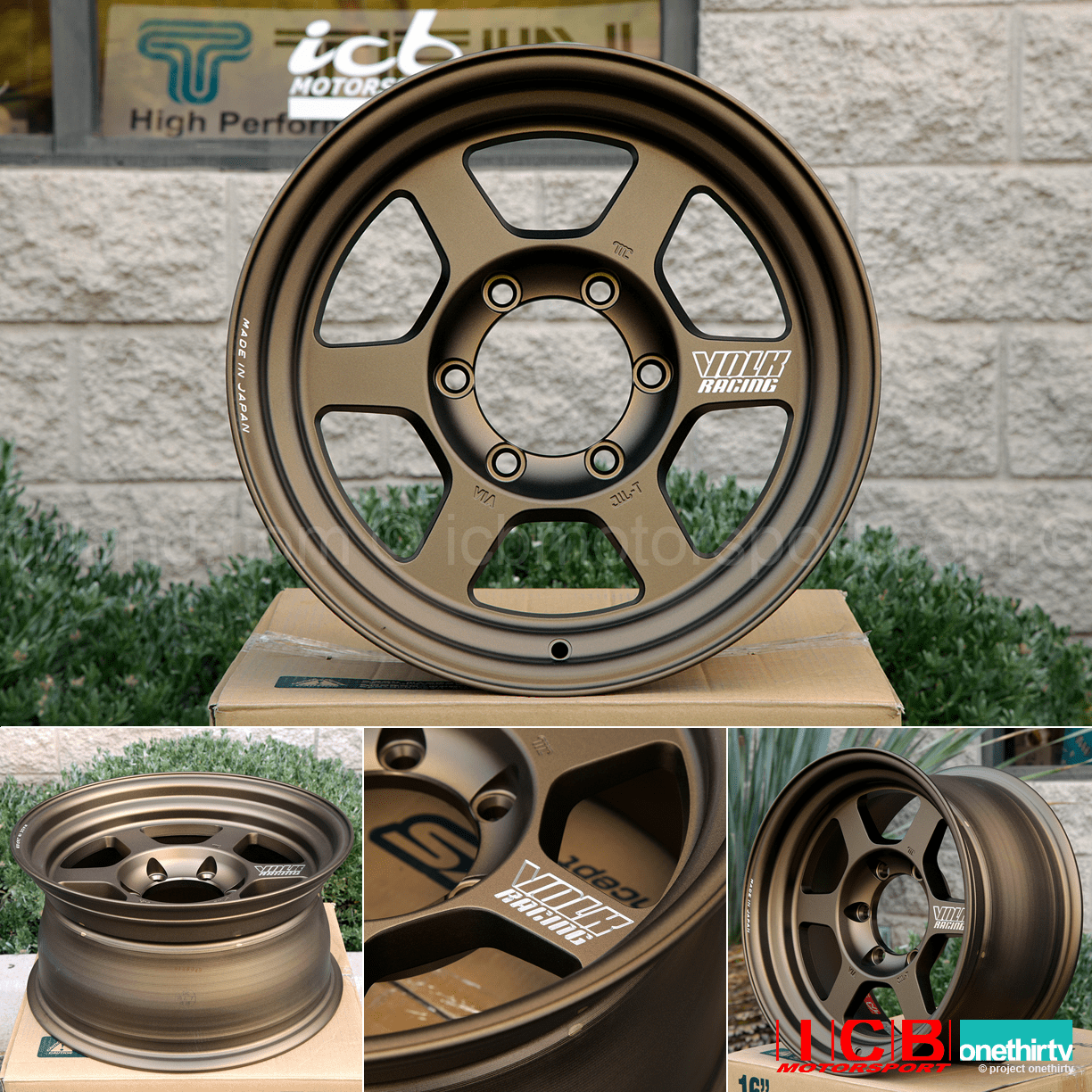 Rays Volk Racing TE37X Progressive Model Wheels 16X8 5X150  0 Offset Bronze Large P.C.D.