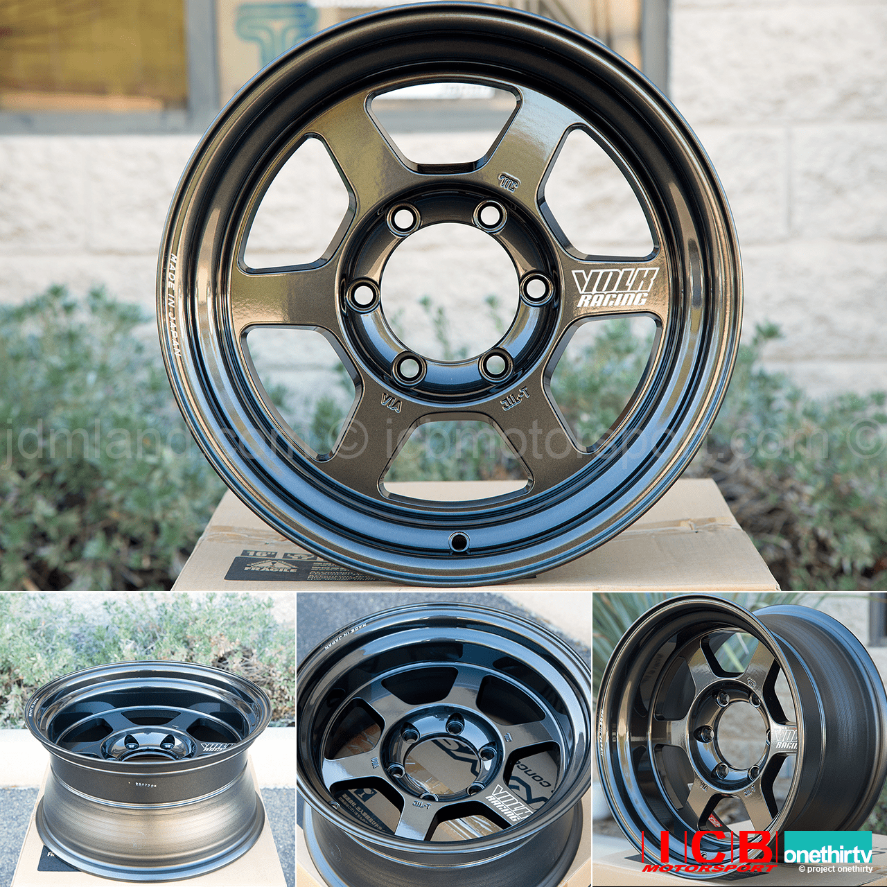 Rays Volk Racing TE37X Progressive Model Wheels 16X8 6X139.7 0 Offset Diamond Black Large P.C.D.