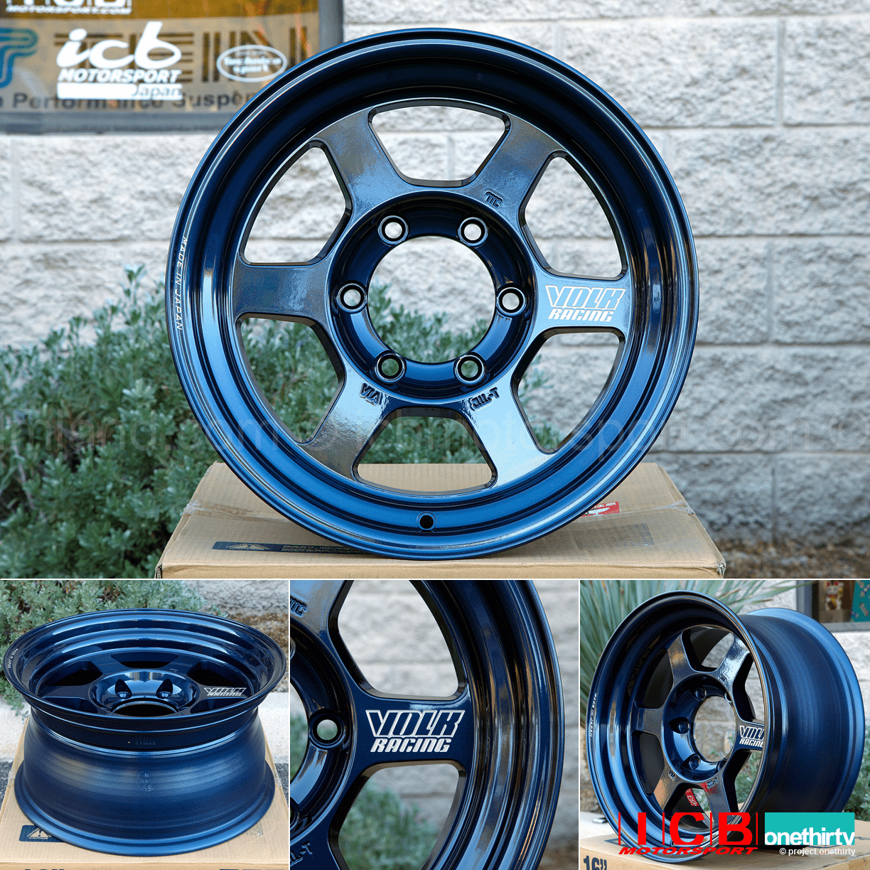 Rays Volk Racing TE37X Progressive Model Wheels 16X8 6X139.7 0 Offset Mag Blue Large P.C.D.