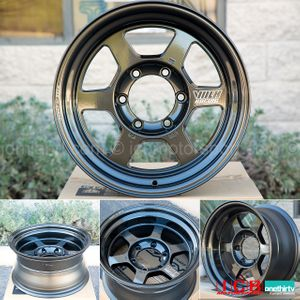 Rays Volk Racing TE37X Wheels 16X8 6X139.7 -20 Offset Diamond Black Large P.C.D. Progressive Model