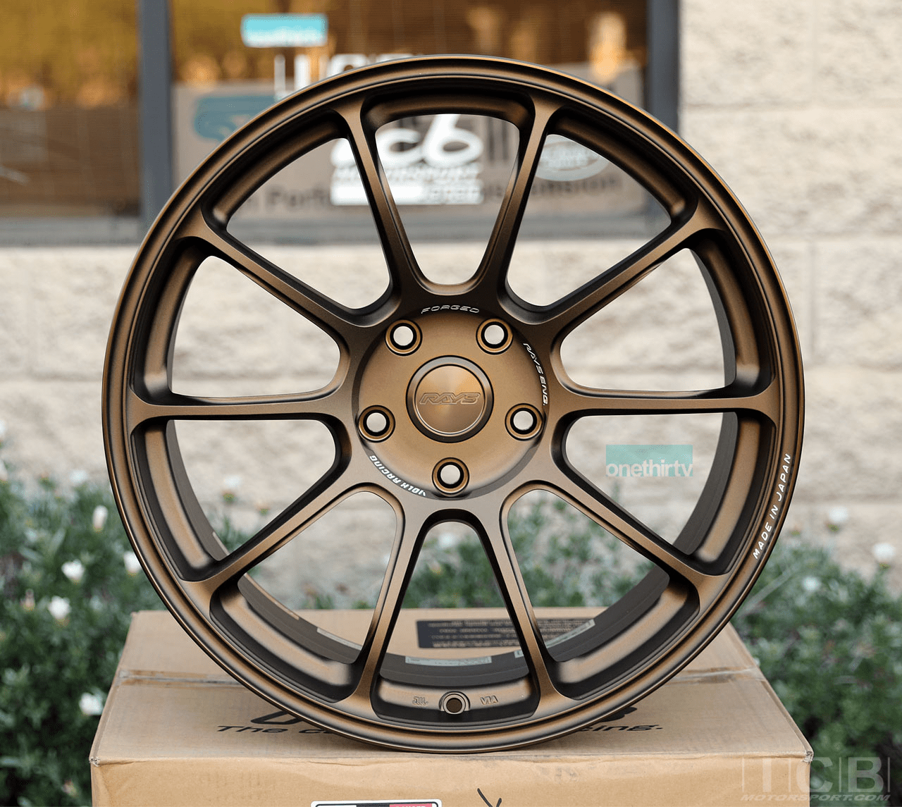 Rays Volk Racing ZE40 Wheels 19X9.5 5X120 +31 Offset Face 3 Concave Face Bronze Civic FK8 CTR