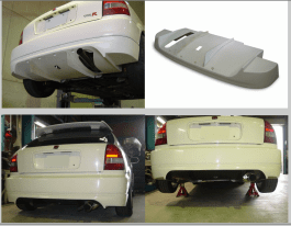 Sergeant RD Racing Division Rear Lip with Integrated Diffuser Civic EK4 EK9 Hatchback 96-00
