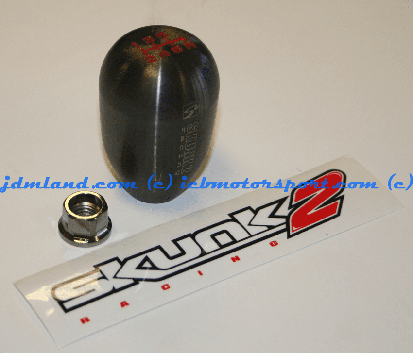 SKUNK2 RACING Billet Gunmetal 6 Speed Shift Knob: (HONDA)