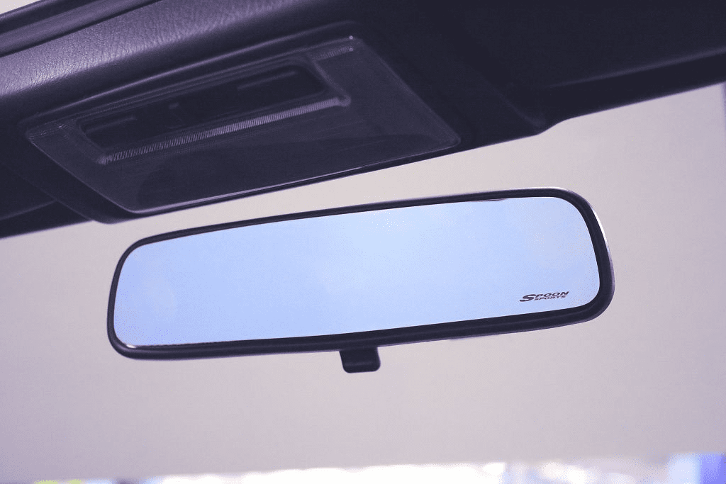 Spoon Blue Wide Rear View Mirror FIT GE8 CIVIC FD2 FN2 ACCORD CL7 (JDM CL7) - 76400-BRM-000
