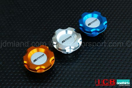 Spoon Sports Billet Oil Cap Honda C/B/D/H/K/F Engines Anodized Gold