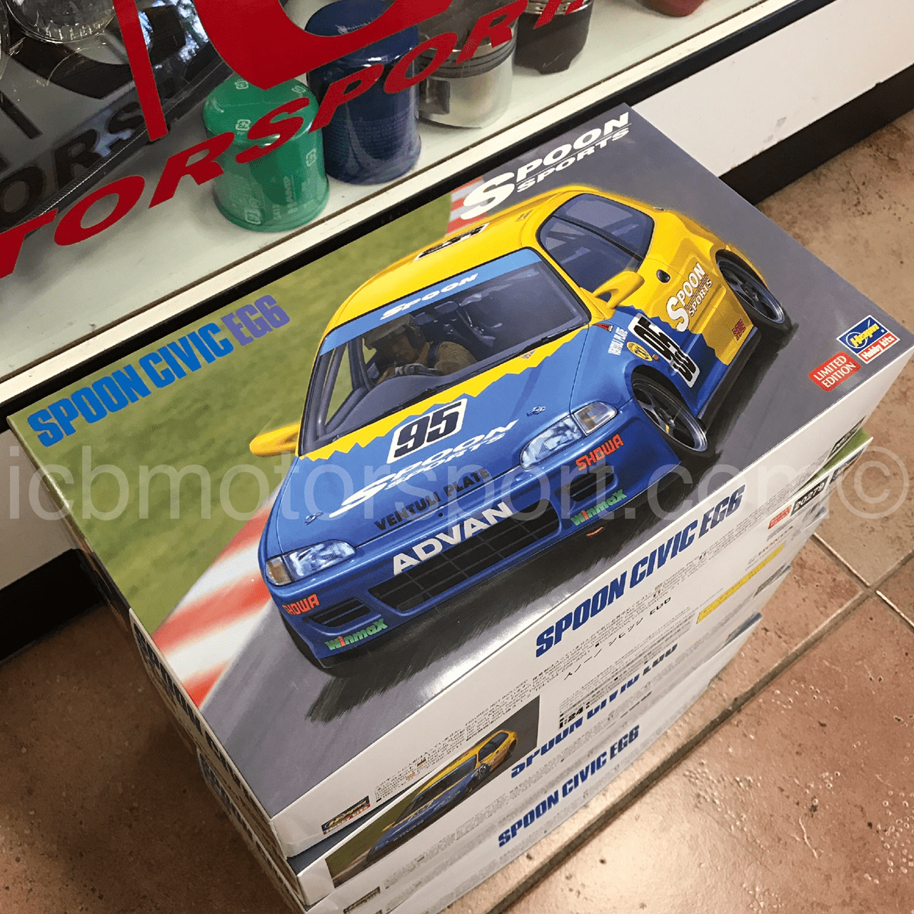 Spoon Sports Civic EG6 N1 Endurance 1/24 Model Kit by Hasegawa