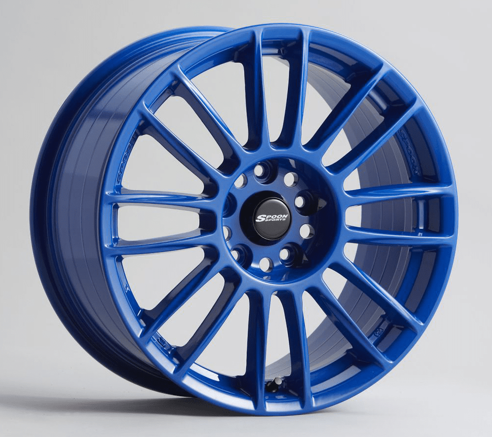 Spoon Sports CR93 Wheels Blue 17X7 5X114.3 +52 offset Civic EP3 Si