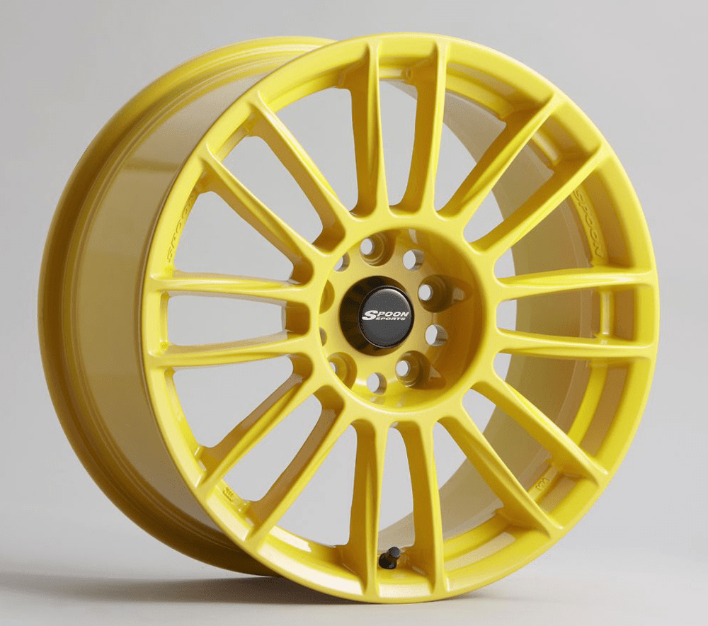 Spoon Sports CR93 Wheels Yellow 17X7 5X114.3 +53 offset Civic EP3 Si