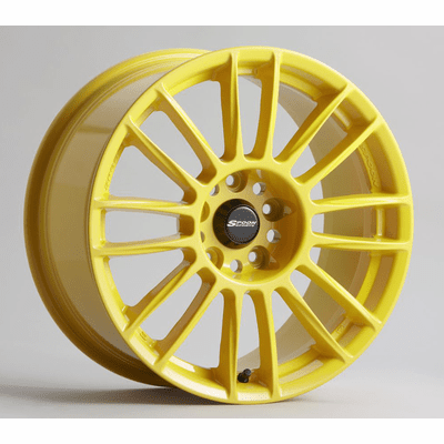 Spoon Sports CR93 Wheels Yellow 4X100 17X7 +52 offset Fit GD3 GE8 DC2 Integra