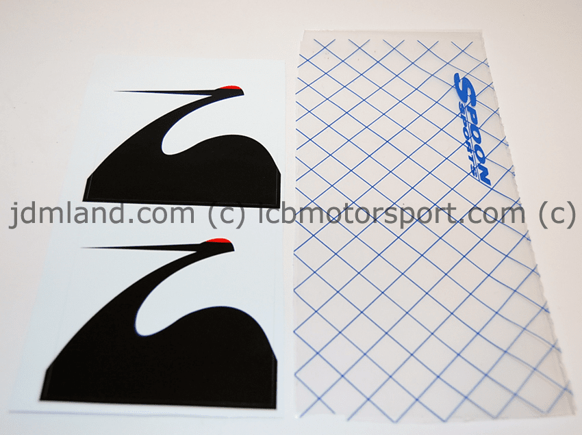 """Spoon Sports Crane Decals Large 3.5"""" X 3.5"""""""