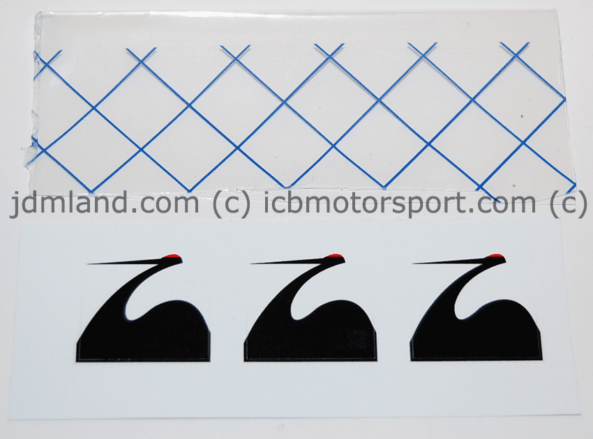 """Spoon Sports Crane Decals Small 1""""X1"""" - FREE SHIP"""