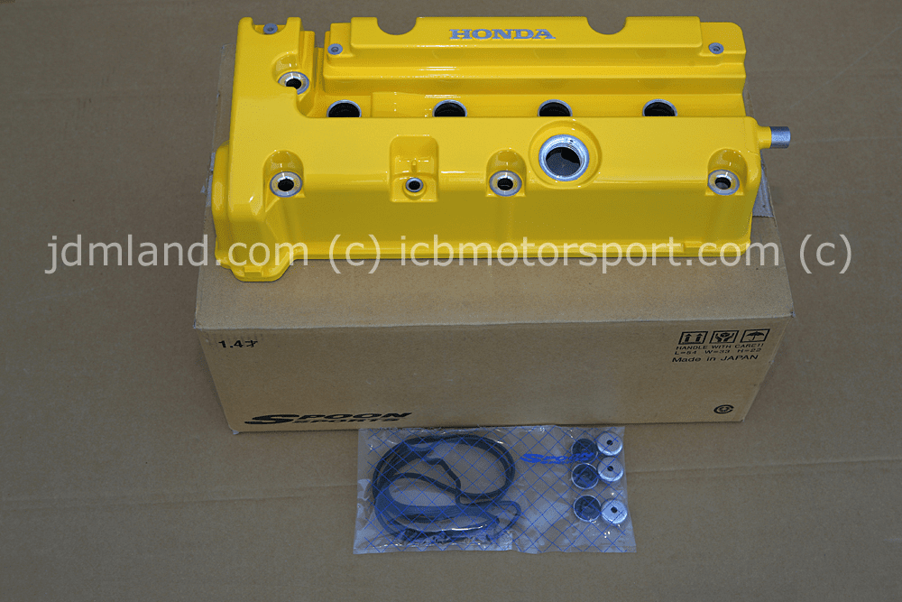 Spoon Sports K20A DC5/EP3 DOHC iVTEC Yellow Valve Cover Pre-Order