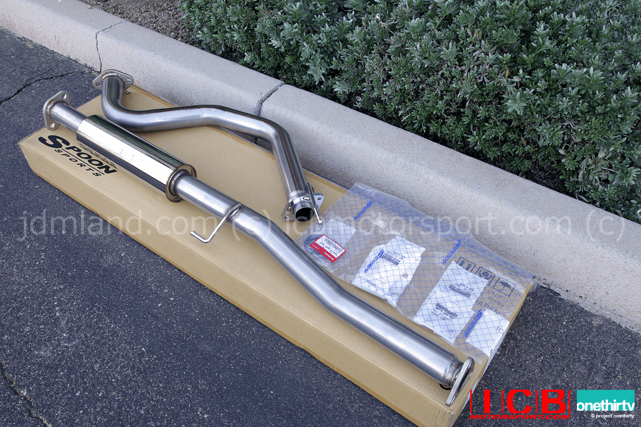 Spoon Sports Version 2 JDM EK9 Civic Type R 96-00 2 Piece Exhaust B-Pipe 18220-EK9-001 Pre-Order