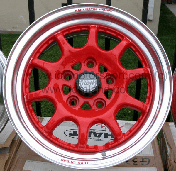 "Sprint Hart CP 15"" 5X114.3 Red w/ Polished Lip NEW - SOLD!"