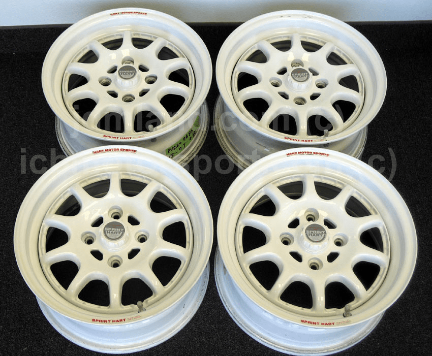 "Sprint Hart CP 15"" All White 4X114.3 - Very Rare! (Mint)"