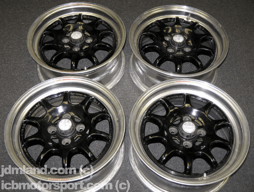 "Sprint Hart CP 15"" Black w/ Polished Lip 4X100 - SOLD!"