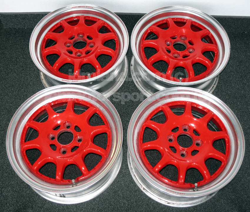 "Sprint Hart CP 15"" Red w/ Polished Lip 4X100 - SOLD!"