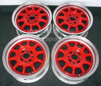 """Sprint Hart CP 15"""" Red w/ Polished Lip 4X100 - SOLD!"""