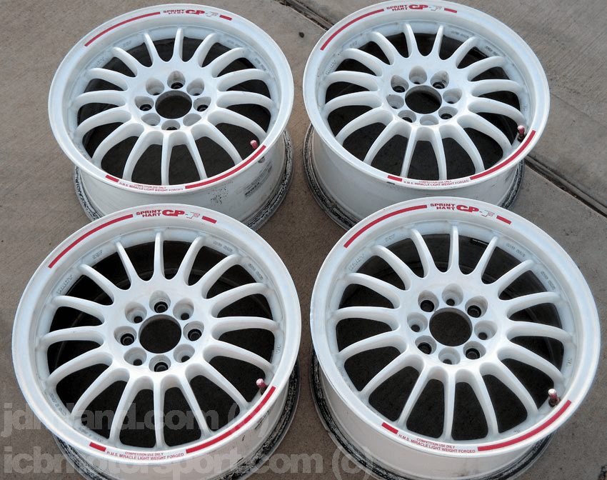 "Sprint Hart CP-F CPF 15"" White 4X100 +40 Offset - SOLD"