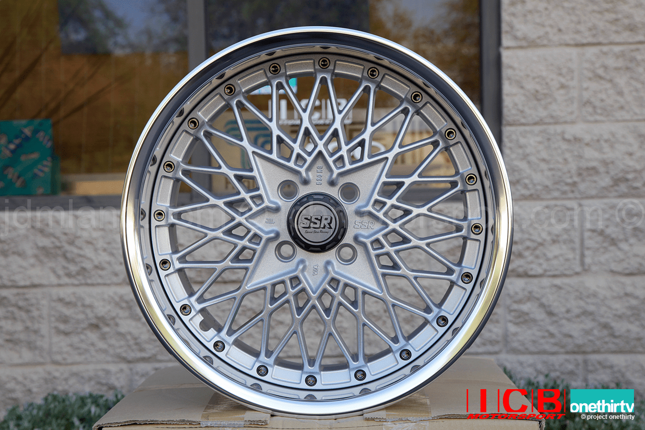 SSR Formula Mesh 3 piece wheel 16X8 4X100 39 Offset 65mm Lip Formula Silver