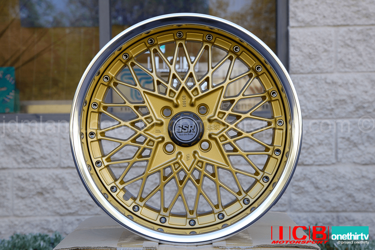 SSR Formula Mesh 3 piece wheel Formula Gold 16X8 4X100 39 Offset 65mm Lip Pre-Order