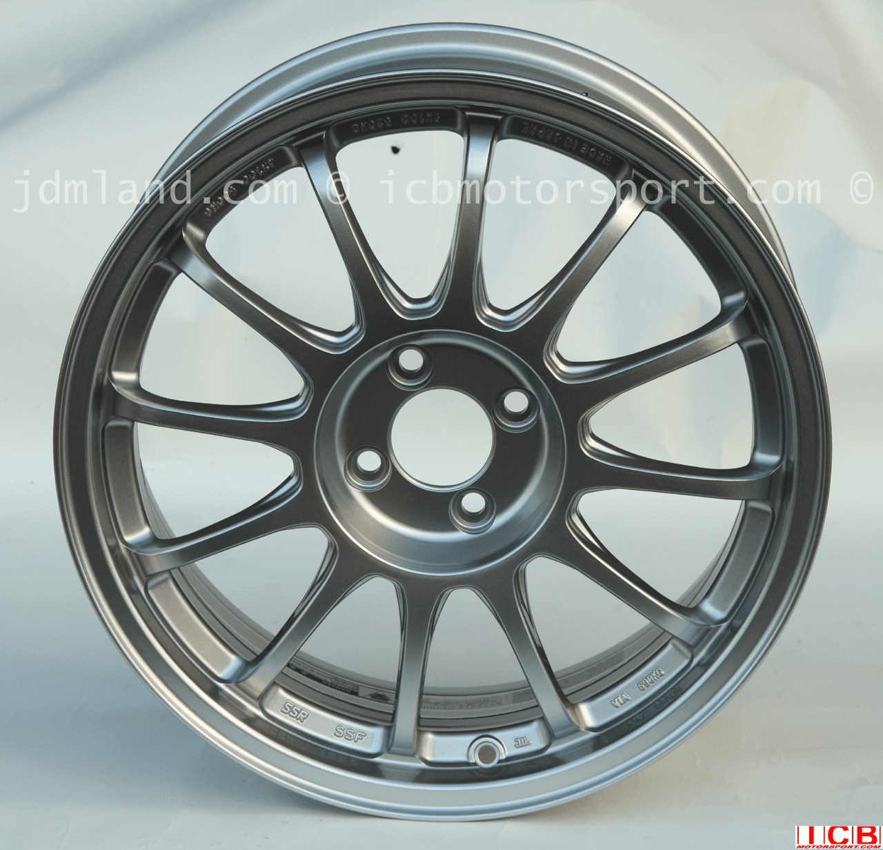 SSR Type F Competition Light Weight Wheels 17X7.5 4H-100 +42 Offset Bright Silver