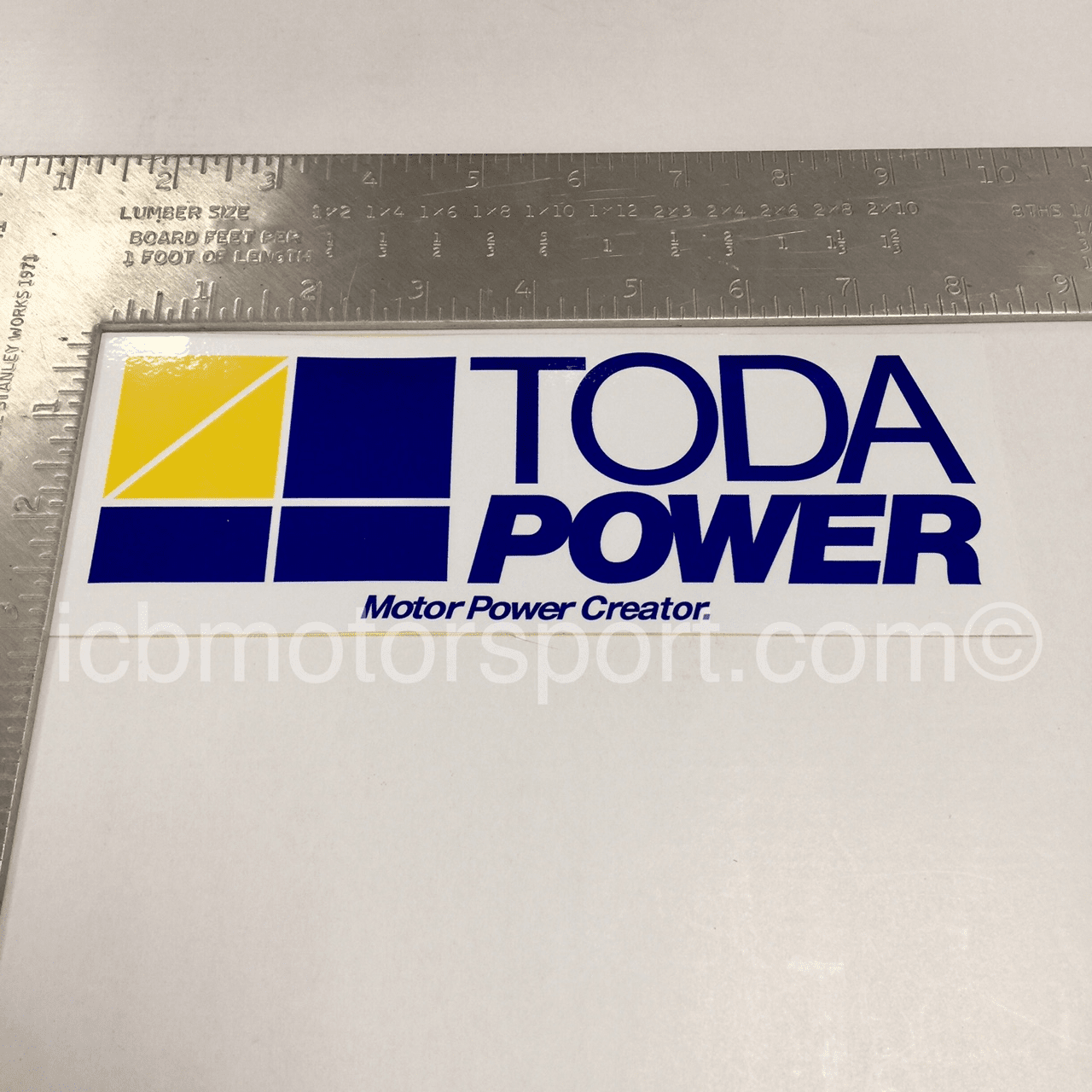 "TODA Power 8"" Blue Sticker - Free Shipping"