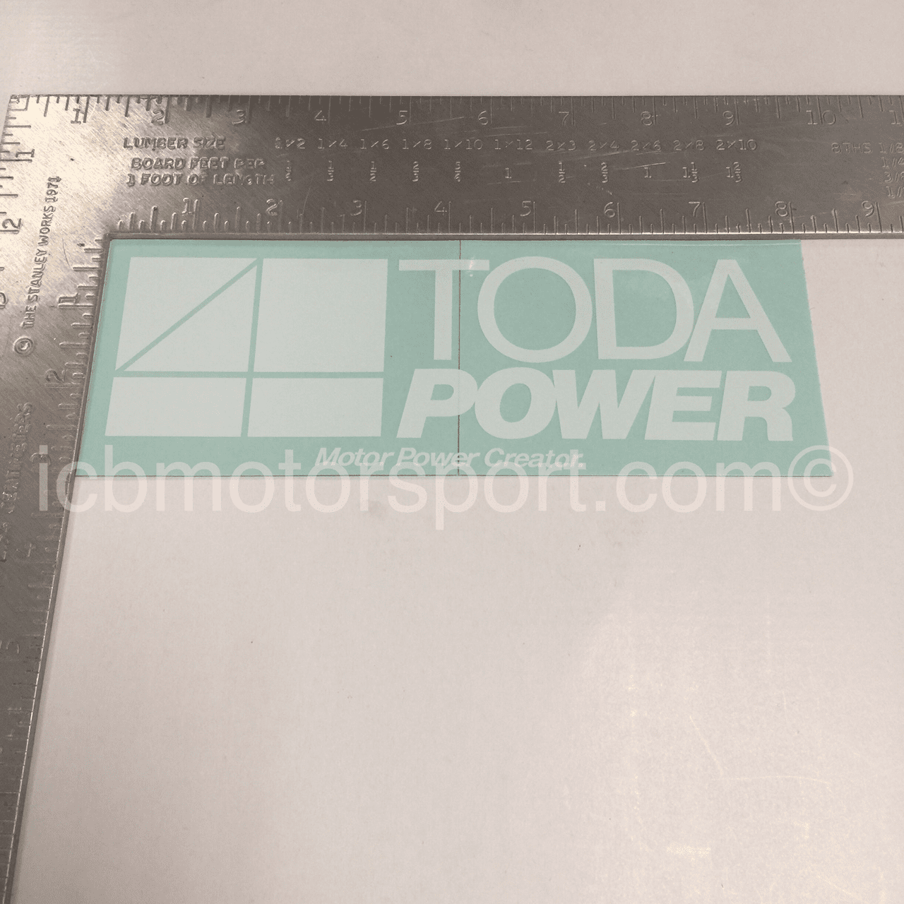 "TODA Power 8"" White Decal - Free Shipping"