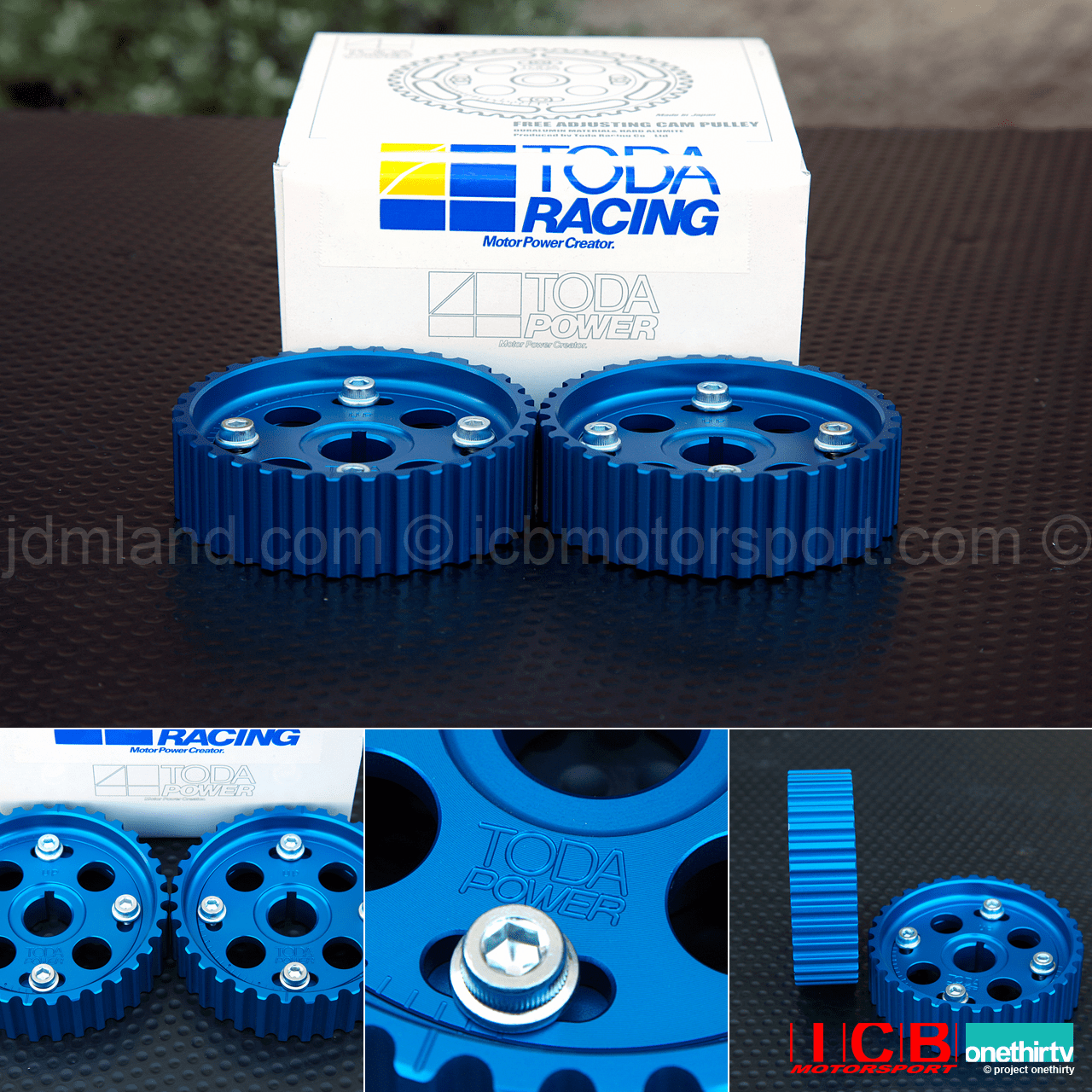 Toda Racing Adjustable Campulleys Cam Gears B16A B18C 14211-B16-001 Anodized Blue