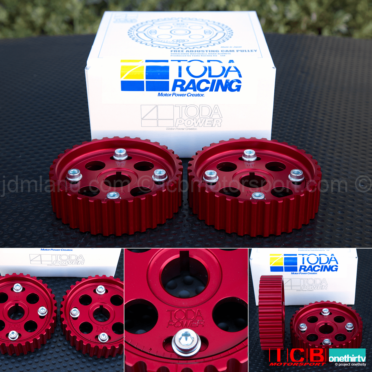 Toda Racing Adjustable Campulleys Cam Gears B16A B18C 14211-B16-001 Anodized Red