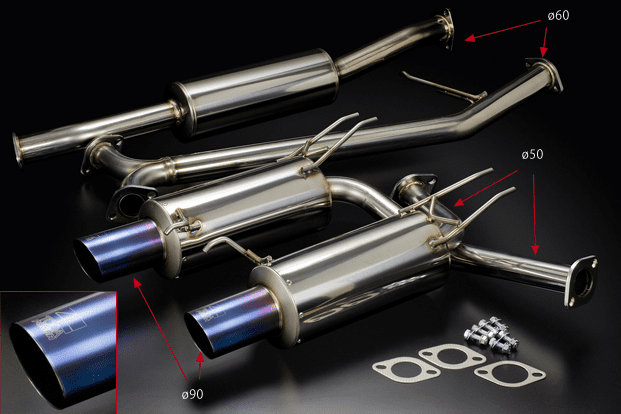 Toda Racing Honda Accord Euro-R K20A Stainless Exhaust System with Straight Titanium Tip18000-CL7-001 Pre-Order